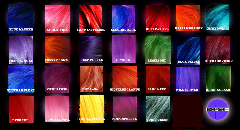 Special effects hair dye sonic green